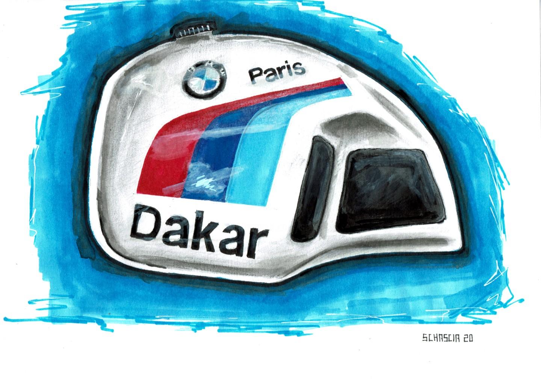 Schascia - Tank BMW R80 G/S Paris Dakar